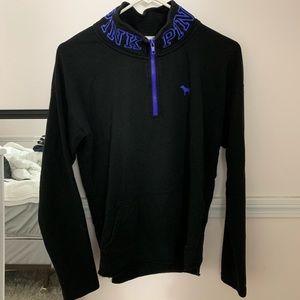 PINK black half zip